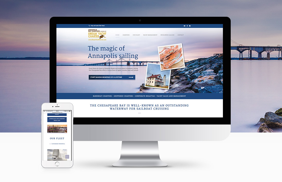 WordPress website for US based yacht holiday company