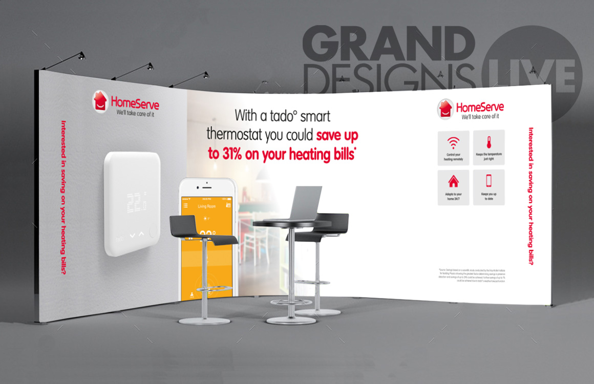 Design and planning for exhibition stand for HomeServe