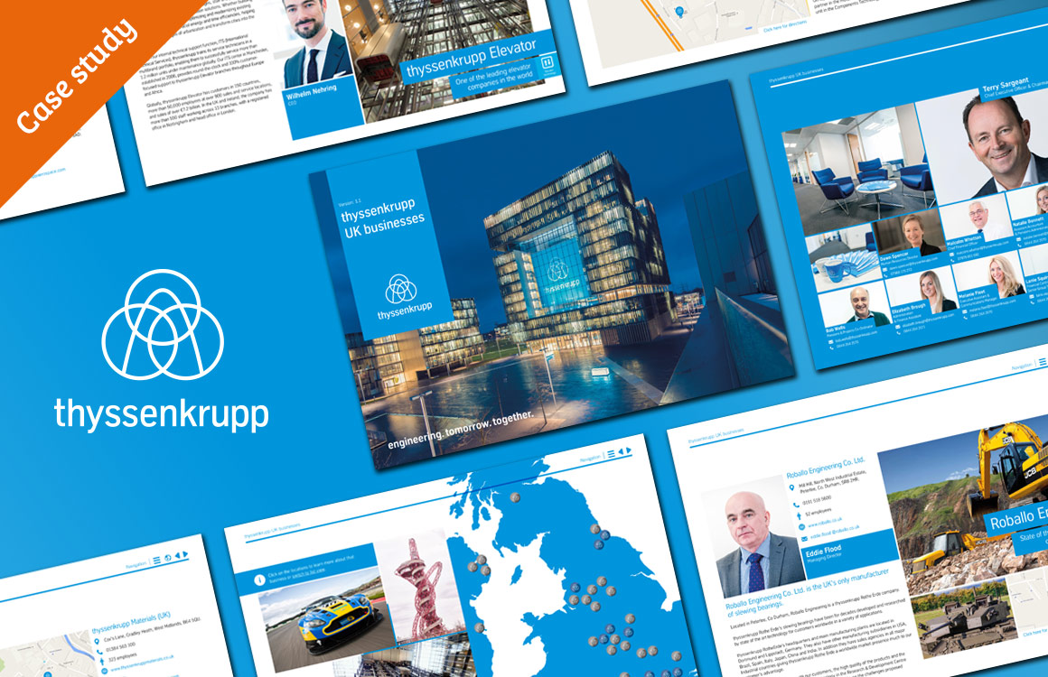 Interactive PDF brochure for thyssenkrupp UK head office